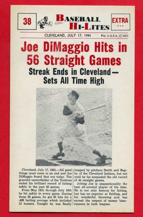 Image result for joe dimaggio 56