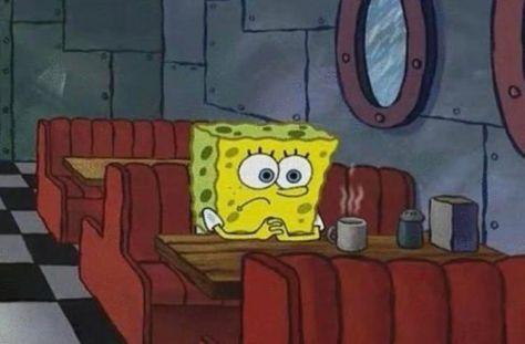 spongebob waiting