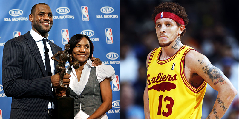 Image result for delonte west and gloria james